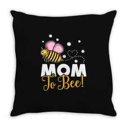 mom to bee baby girl Throw Pillow | Artistshot