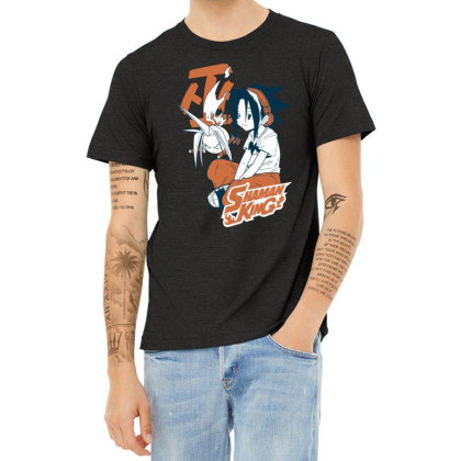 Shaman King Kanji Heather T-shirt Designed By Paísdelasmáquinas