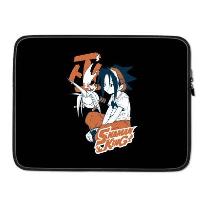 Shaman King Kanji Laptop Sleeve Designed By Paísdelasmáquinas