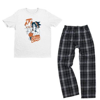Shaman King Kanji Youth T-shirt Pajama Set Designed By Paísdelasmáquinas