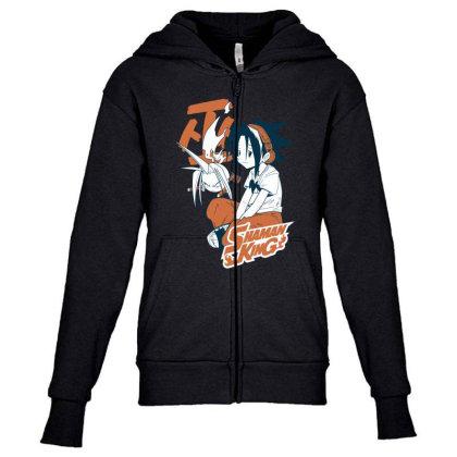 Shaman King Kanji Youth Zipper Hoodie Designed By Paísdelasmáquinas