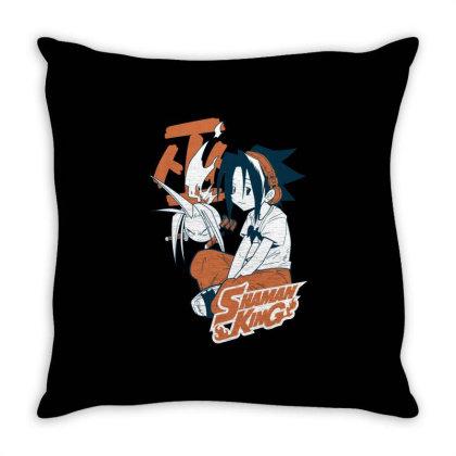 Shaman King Kanji Throw Pillow Designed By Paísdelasmáquinas