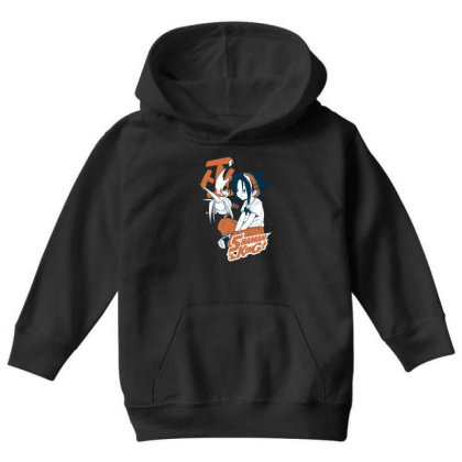Shaman King Kanji Youth Hoodie Designed By Paísdelasmáquinas