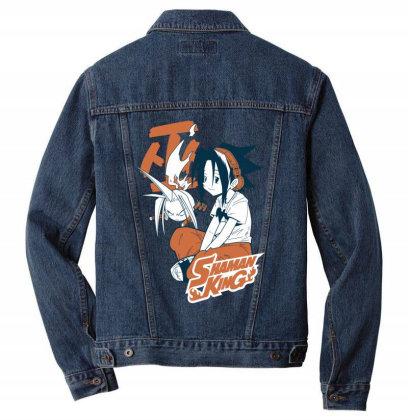 Shaman King Kanji Men Denim Jacket Designed By Paísdelasmáquinas
