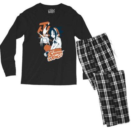 Shaman King Kanji Men's Long Sleeve Pajama Set Designed By Paísdelasmáquinas
