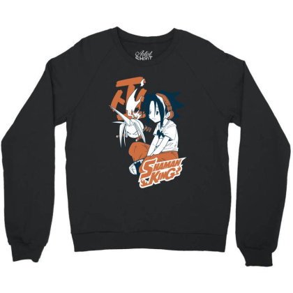 Shaman King Kanji Crewneck Sweatshirt Designed By Paísdelasmáquinas