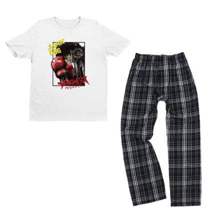 Megalobox Youth T-shirt Pajama Set Designed By Paísdelasmáquinas