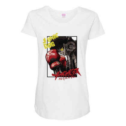 Megalobox Maternity Scoop Neck T-shirt Designed By Paísdelasmáquinas