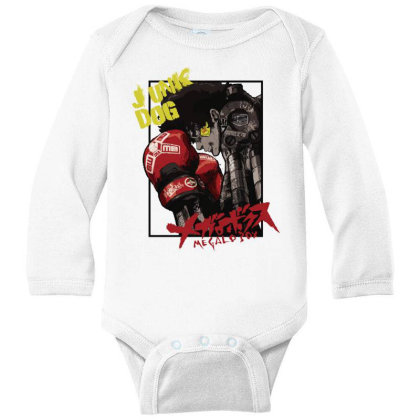 Megalobox Long Sleeve Baby Bodysuit Designed By Paísdelasmáquinas