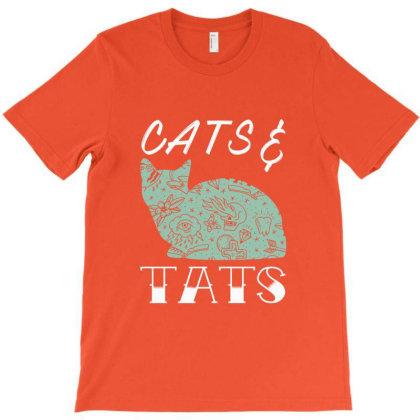 Cats Kitty Tats Tattoos T-shirt Designed By Fashionfree