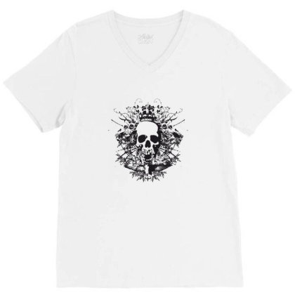 Skull V-neck Tee Designed By Estore