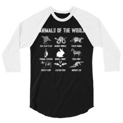 animals of the world for dark 3/4 Sleeve Shirt | Artistshot