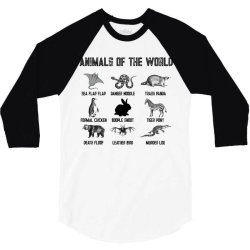 animals of the world for light 3/4 Sleeve Shirt | Artistshot