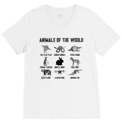 animals of the world for light V-Neck Tee | Artistshot