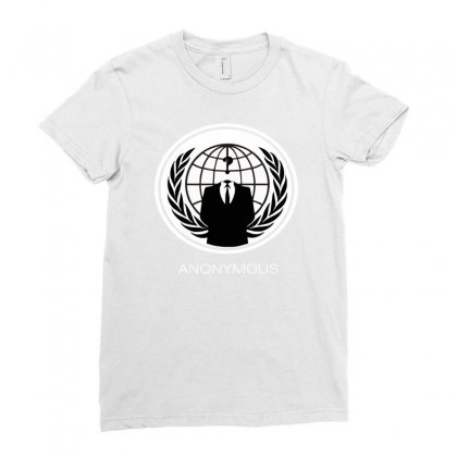 Anonymous Group Occupy Hacktivist Pipa Sopa Acta   V For Vendetta Ladies Fitted T-shirt Designed By Mdk Art