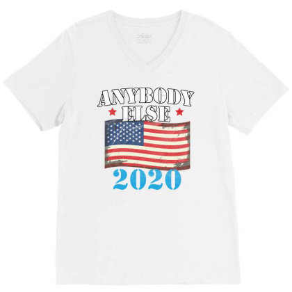 Anybody Else 2020 V-neck Tee Designed By Cogentprint