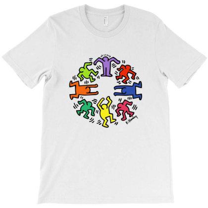 Circle Dance Keith Haring T-shirt Designed By Ampun Dj