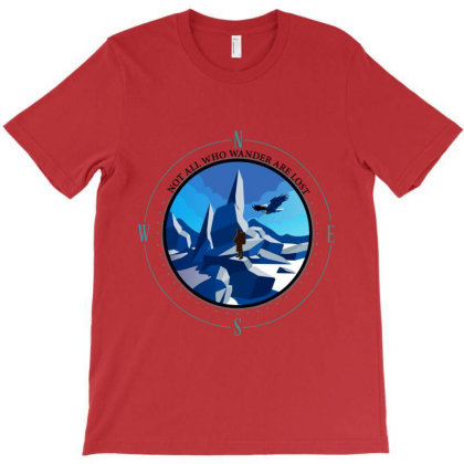 Hiking Wander T-shirt Designed By Red Story