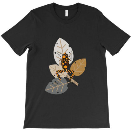Flower Frog T-shirt Designed By Red Story