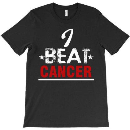 I Beat Cancer T-shirt Designed By Cogentprint