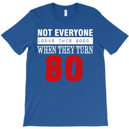 80th Year Birthday Gift T-shirt Designed By Cogentprint