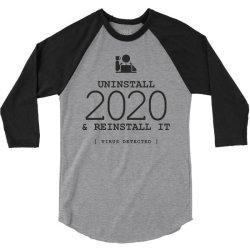 uninstall reinstall 2020 3/4 Sleeve Shirt   Artistshot