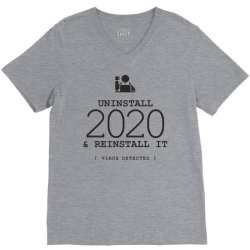 uninstall reinstall 2020 V-Neck Tee   Artistshot