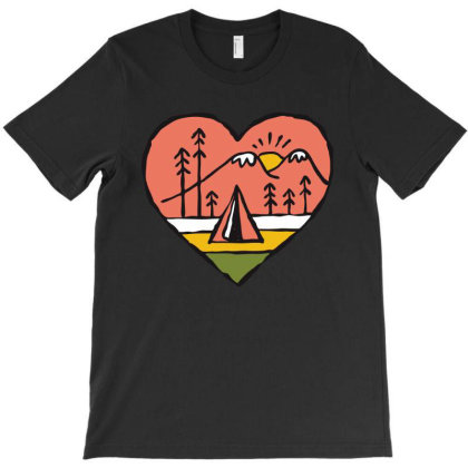 Camping In Love T-shirt Designed By Quilimo