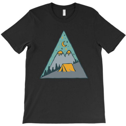 Camp Triangle T-shirt Designed By Quilimo