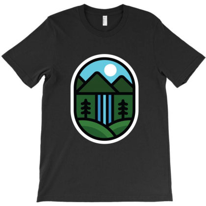 Waterfall T-shirt Designed By Quilimo