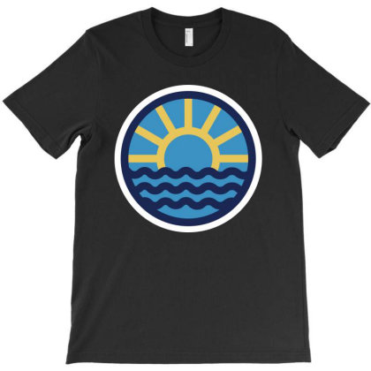Sun Beach T-shirt Designed By Quilimo