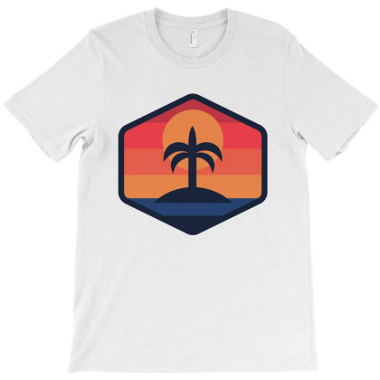 Sunset Beach Island T-shirt Designed By Quilimo