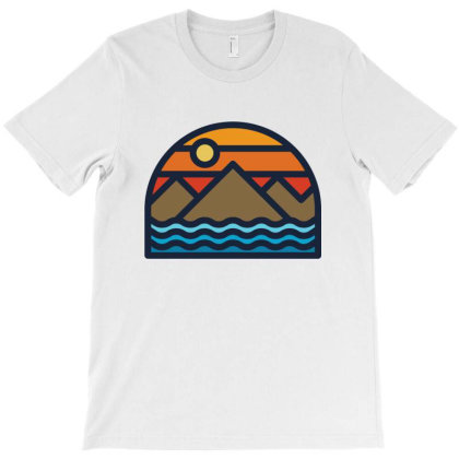 Mountain And Sea T-shirt Designed By Quilimo