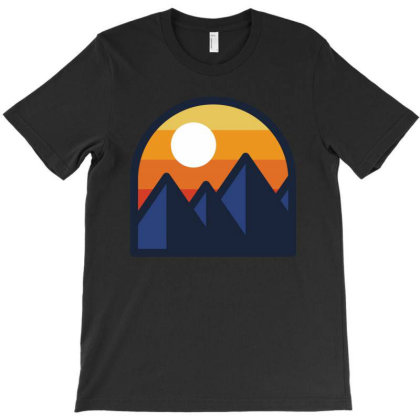 Beauty Sunset Mountain T-shirt Designed By Quilimo
