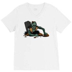 Zombie Apocalypse V-Neck Tee | Artistshot