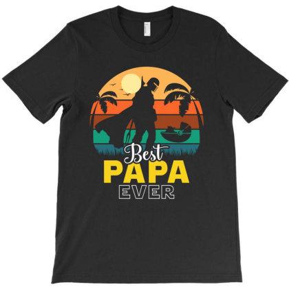 Yoda Best Papa Ever T-shirt Designed By Honeysuckle