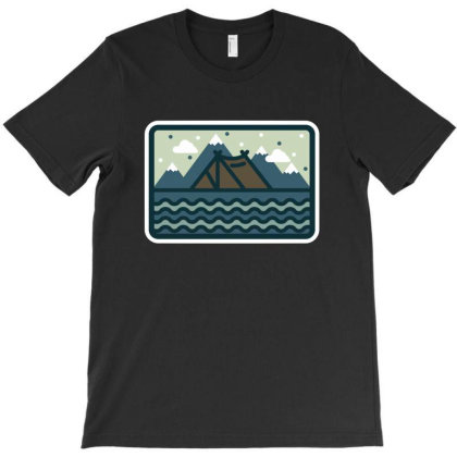 Camp Mountain Beach View T-shirt Designed By Quilimo