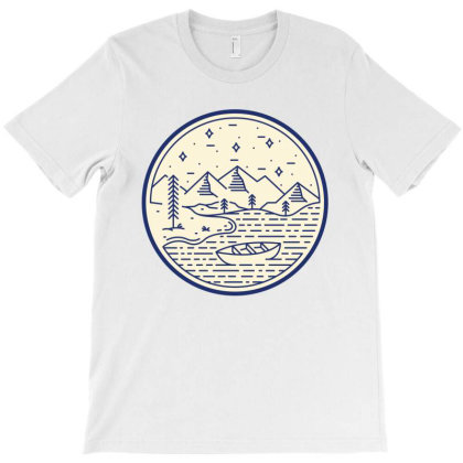 Lake And Canoe T-shirt Designed By Quilimo
