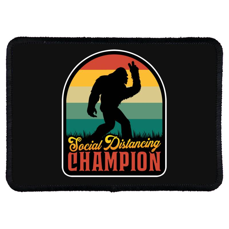 Social Distancing Champion Rectangle Patch | Artistshot