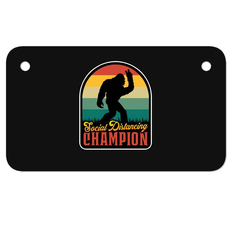Social Distancing Champion Motorcycle License Plate | Artistshot