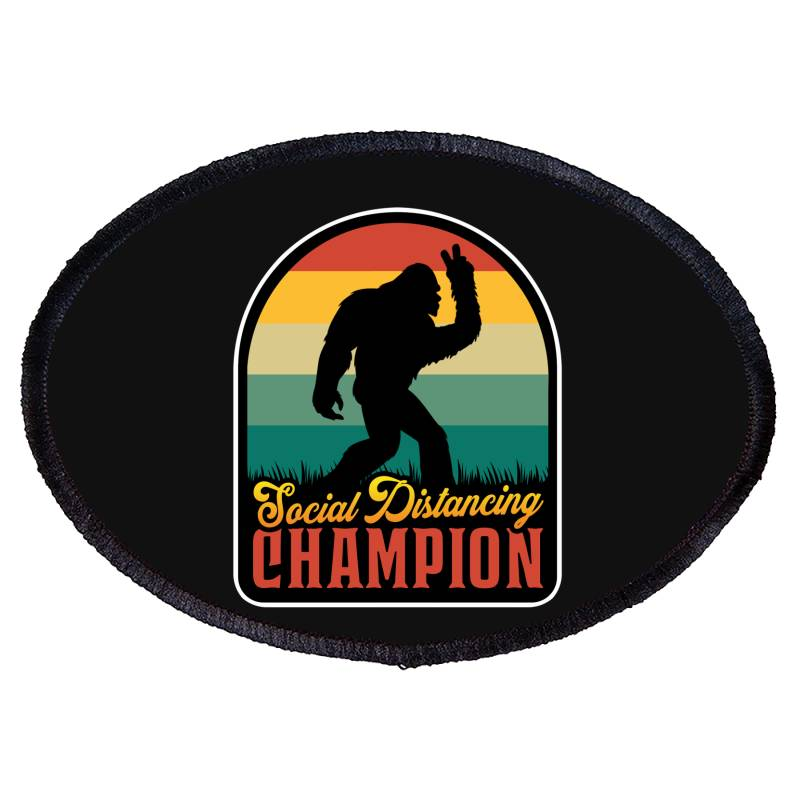 Social Distancing Champion Oval Patch | Artistshot