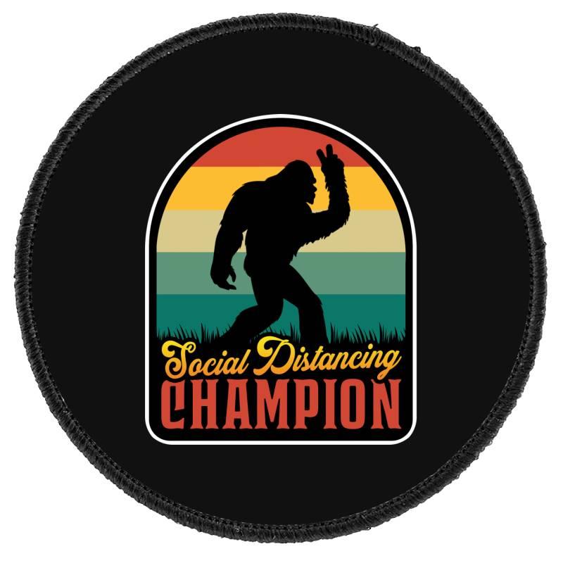 Social Distancing Champion Round Patch   Artistshot