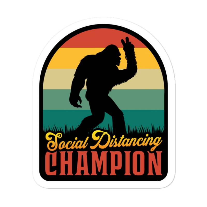 Social Distancing Champion Sticker   Artistshot