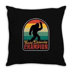 social distancing champion Throw Pillow | Artistshot