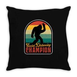 social distancing champion Throw Pillow | Artistshot