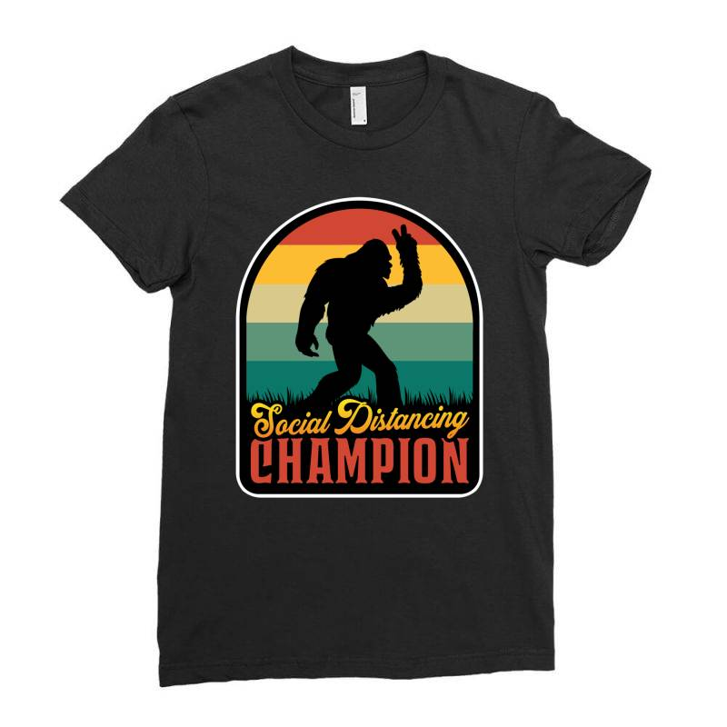 Social Distancing Champion Ladies Fitted T-shirt | Artistshot