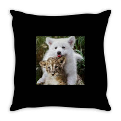 Dog and Lion Throw Pillow | Artistshot
