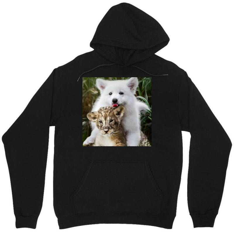 Dog And Lion Unisex Hoodie | Artistshot
