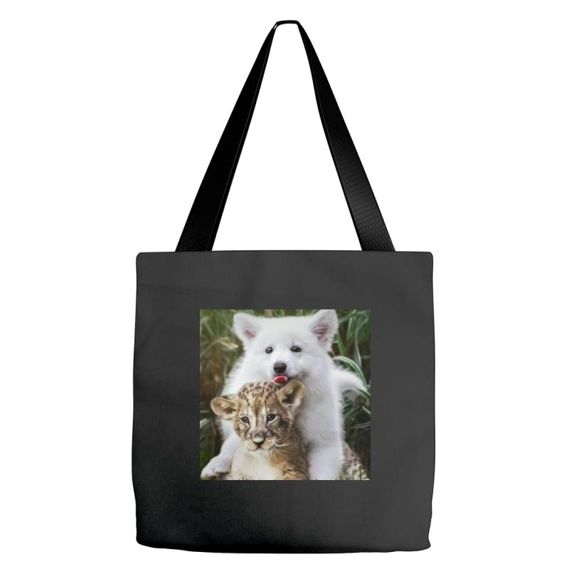 Dog And Lion Tote Bags | Artistshot