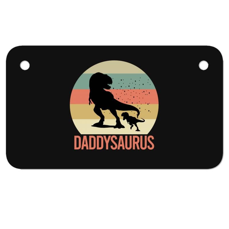 Daddysaurus Motorcycle License Plate | Artistshot